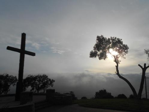 Picture my wife took as Venturan fog rolls in on Easter Sunday